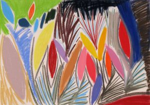 pastel on paper entitled Bloom, by Linda Hains