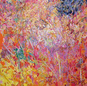 painting entitled Rosy by Linda Hains