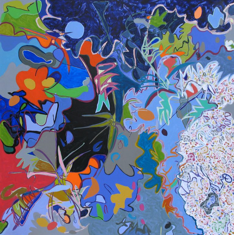 painting entitled Simmer by Linda Hains