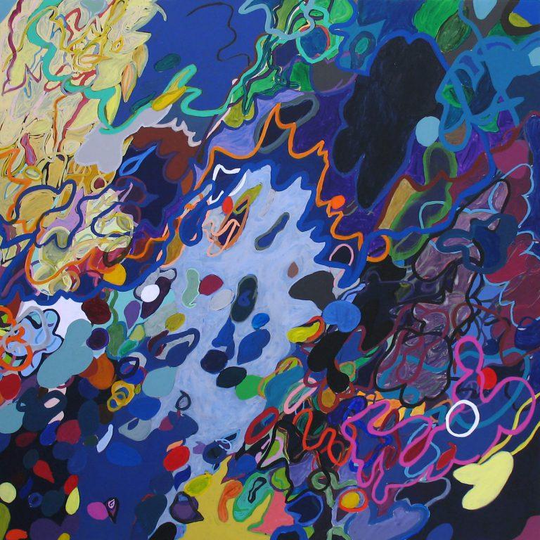 painting entitled Something by Linda Hains