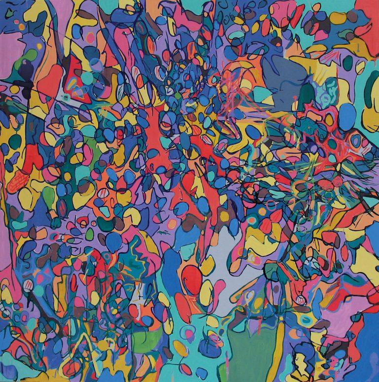 painting entitle Sundance Lake by Linda Hains