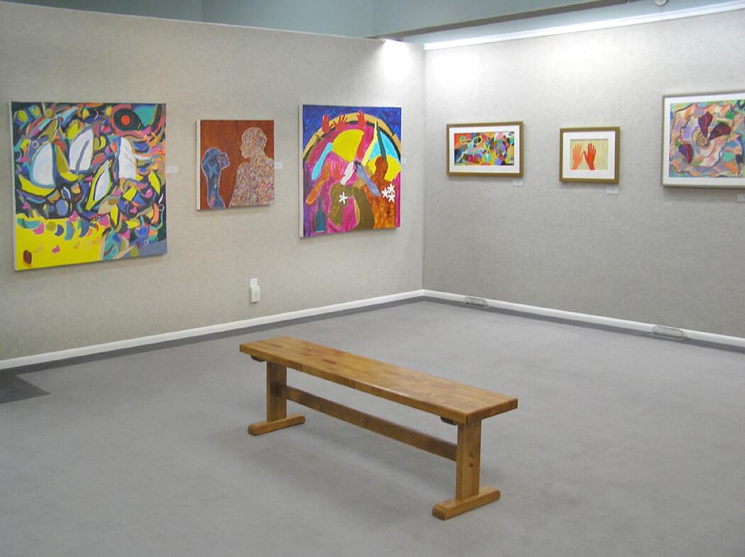Wyoming Exhibition, Linda Hains, installation views #1
