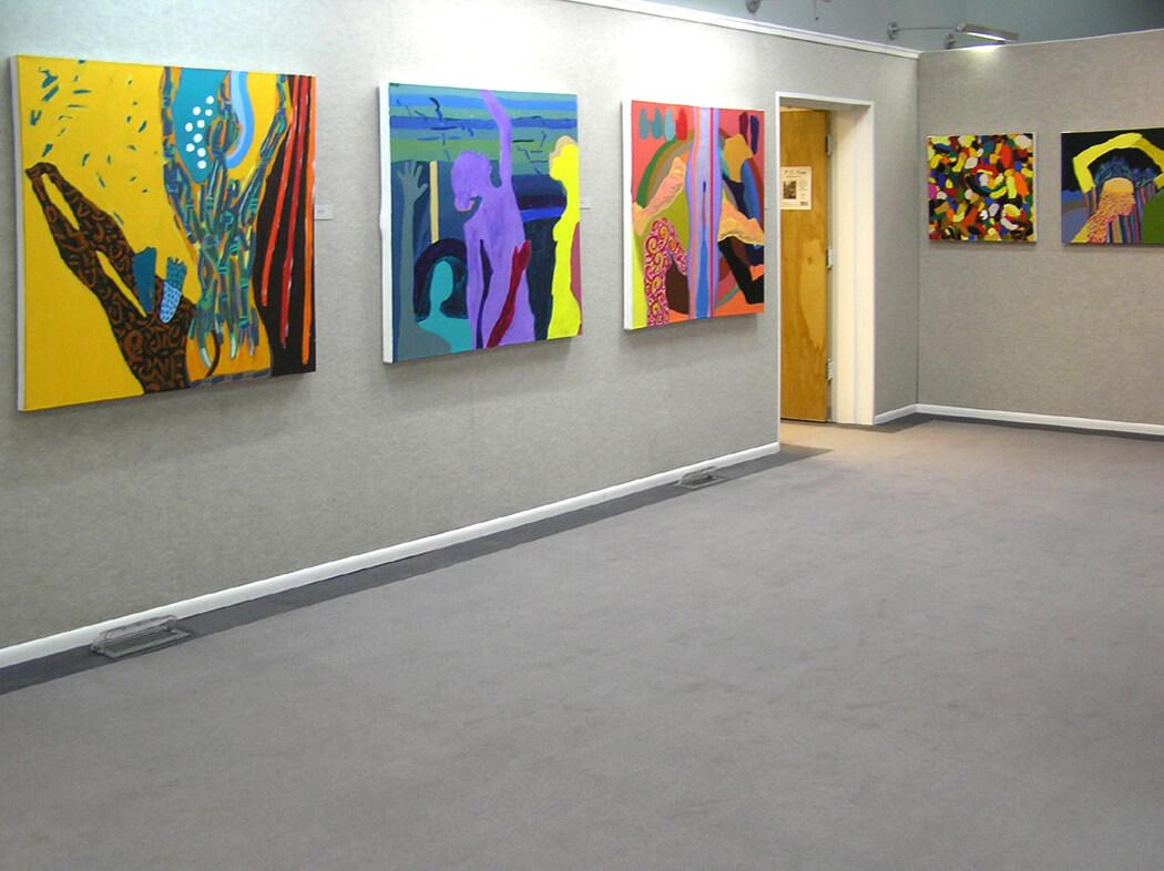 Wyoming Exhibition, Linda Hains, installation views #4